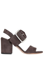 Stuart Weitzman 65Mm City Buckle Suede Sandals