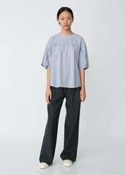 Zucca Bone Embroidery Top Stripe