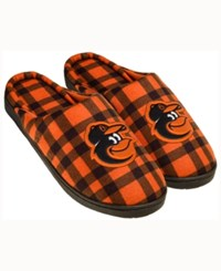 Forever Collectibles Baltimore Orioles Flannel Slide Slippers Black