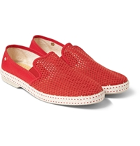 Rivieras Cotton Mesh Slip On Shoes
