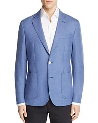 Hardy Amies Chambray Textured Slim Fit Sport Coat Chambray Blue