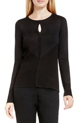 Vince Camuto Women's Keyhole Sweater Rich Black