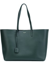 Saint Laurent Large Shopping Tote Green