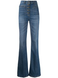 Elisabetta Franchi High Waisted Flared Jeans 60