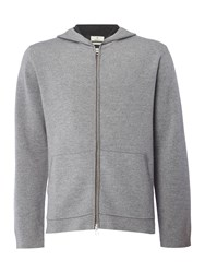 Gant Men's Diamond G Hooded Merino Jumper Grey