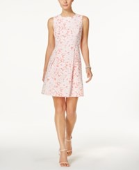 Jessica Howard Petite Floral Print Fit And Flare Dress Coral