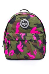 Topshop Pink Pop Camouflage Backpack By Hype Multi