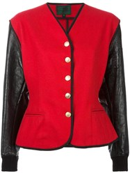 Jean Paul Gaultier Vintage Junior Colour Block Jacket Red