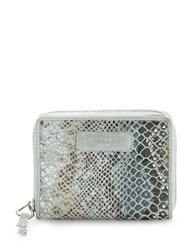 Liebeskind Conny F7 Snakeskin Embossed Leather Wallet Beige