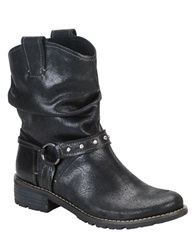 Sofft Adan Leather Slouchy Booties Black