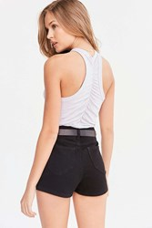 Truly Madly Deeply Ruched Back Tank Top Grey