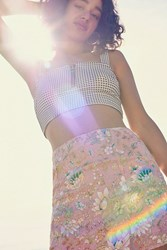 Urban Outfitters Uo Floral Handkerchief Mini Skirt Rose