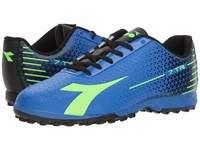 Diadora 7 Tri Tf Imperial Blue Lime Punch Black Soccer Shoes
