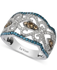 Le Vian Diamond Vintage Ring In 14K White Gold 1 Ct. T.W.