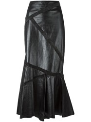 Jean Paul Gaultier Vintage Long Leather Skirt Black