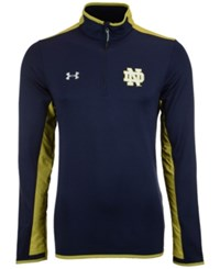 Under Armour Men's Notre Dame Fighting Irish Smu Quarter Zip Pullover Navy Darkgoldenrod