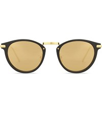 Linda Farrow Lfl512 Oval Frame Sunglasses Black Yellow Gold
