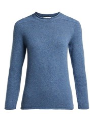 The Row Rickie Cashmere Sweater Blue
