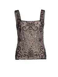 Gina Bacconi Bead And Sequin Cami Grey
