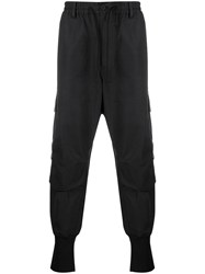 Y 3 Exaggerated Ankle Trackpants Black