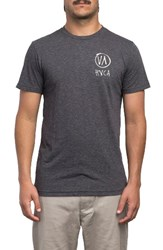 Rvca Men's Roughly Graphic T Shirt Black