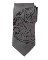 Cufflinks Inc. Game Of Thrones Targaryen Large Sigil Silk Tie Gray