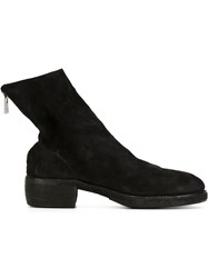 Guidi Double Stacked Back Zip Boots Black