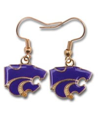 Aminco Kansas State Wildcats Logo Earrings Team Color