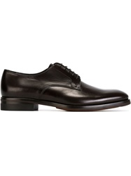 Giorgio Armani Classic Derby Shoes Brown