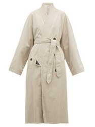 Balenciaga Judo Cotton Gabardine Trench Coat Beige