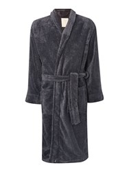 Linea Marl Fleece Mens Robe Charcoal