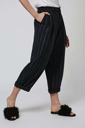 Stripe Mensy Trousers By Boutique Navy Blue
