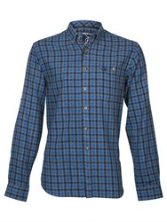 Raging Bull Small Check Shirt Navy