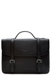 Men's Ted Baker London 'Jagala' Pebbled Leather Messenger Bag Black