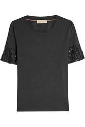 Burberry London Cotton T Shirt With Lace