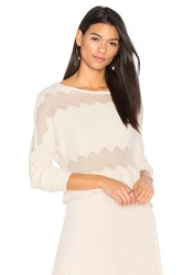 One Grey Day Rona Fringe Sweater Ivory
