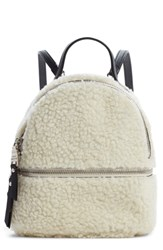 Steve Madden Mini Faux Fur Convertible Backpack Ivory Natural