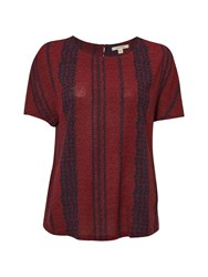 White Stuff Poetry Stripe Top Red