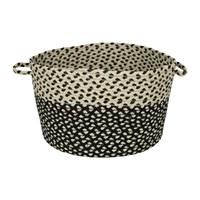 The Braided Rug Company Utility Basket Black White Black And White