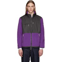 The North Face Purple And Grey Denali Zip Up Sweater