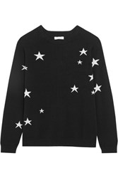 Chinti And Parker Star Intarsia Cashmere Sweater Black