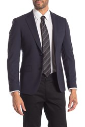 Theory Malcolm Two Button Notch Lapel Suit Separates Jacket Navy