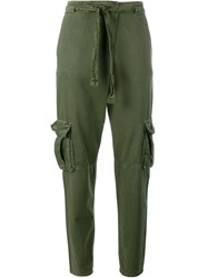 Current Elliott Cotton Military Trousers Green