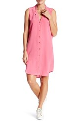 Equipment Sleeveless Adalyn Silk Shirt Dress Pink