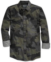 American Rag Men's Supreme Camouflage Long Sleeve Shirt Only At Macy's Blue