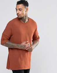 Criminal Damage T Shirt With Dropped Shoulder Orange