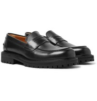 Mr P. Jacques Leather Penny Loafers Black