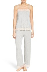 Nordstrom Women's Lingerie Camisole Pajamas Grey Pearl Heather