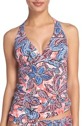 Tommy Bahama Women's Java Blossom Reversible Halter Tankini Top