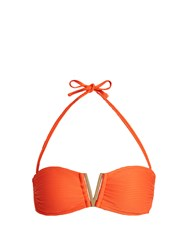 Heidi Klein Cayman Islands Bandeau Bikini Top Orange